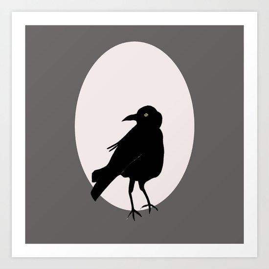 Crow Love Art Print