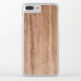 Stains on the old pink wall Clear iPhone Case