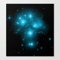 constellation Canvas Prints featuring Constellation by 2sweet4words Designs