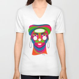 Palenquera es color Unisex V-Neck