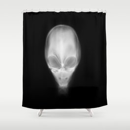 Alien X-Ray Shower Curtain