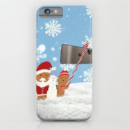 Christmas Selfie  iPhone Case