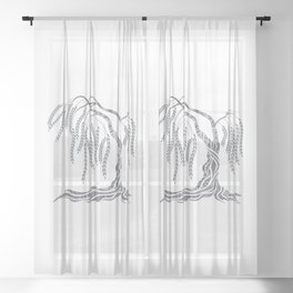Weeping Willow Tree Sheer Curtain