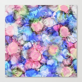 Alcohol Ink Flower Pattern Canvas Print