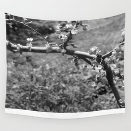 tree branch with Flowers Wall Tapestry