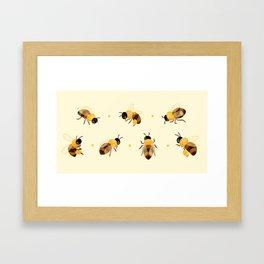 Honey bees Framed Art Print