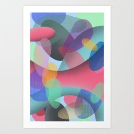 Abstract Colorful Textures Shapes #3 Art Print