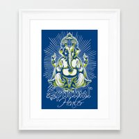 spiritual Framed Art Prints featuring Spiritual healer  by Tshirt-Factory