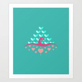 Be Beautiful - Be Colourful Peacock Art Print