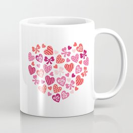 Valentine's Day Heart #2 - Ribbons, Bows & Decorated Mini Hearts Coffee Mug