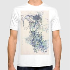 The Peacock Mens Fitted Tee White MEDIUM
