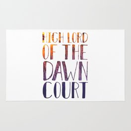 High Lord of the Dawn Court Rug