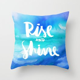 Rise & Shine [Collaboration with Jacqueline Maldonado] Throw Pillow