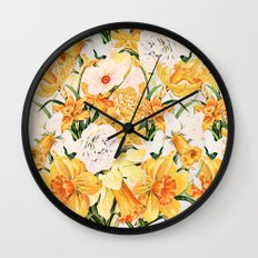 Wordsworth  and daffodils. Wall Clock