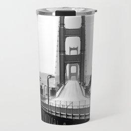 Golden Gate Bridge Black and White Travel Mug