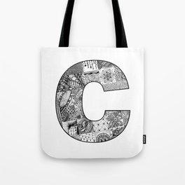 Cutout Letter C Tote Bag