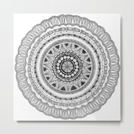 Zendala - Zentangle®-Inspired Art - ZIA 16 Metal Print
