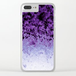 Purple Crystal Ombre Clear iPhone Case