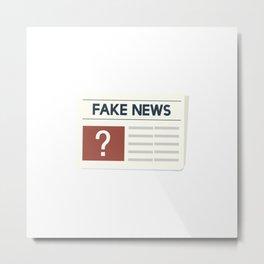 Fake News Metal Print