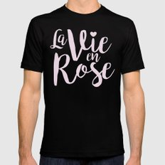 La vie en rose (pink mood) Black Mens Fitted Tee MEDIUM