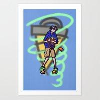 gurren lagann Art Prints featuring gurren lagann - simon by gutter