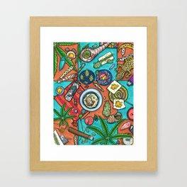 Ocean Grown : Cannabis Altar III Framed Art Print