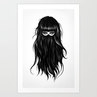 ruben Art Prints featuring It Girl by Ruben Ireland