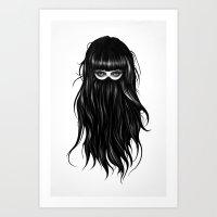girl Art Prints featuring It Girl by Ruben Ireland