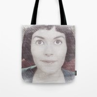 amelie Tote Bags featuring Amelie by EclipseLio
