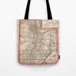 Vintage Map of Utah (1883) Tote Bag