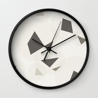 geo Wall Clocks featuring Geo by Srta Malasuerte