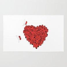 Valentine's Heart Rug