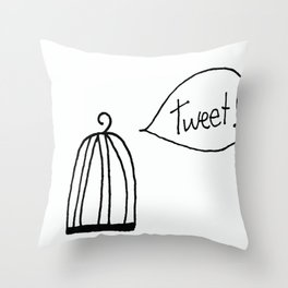 Is There Anyone Home? Throw Pillow