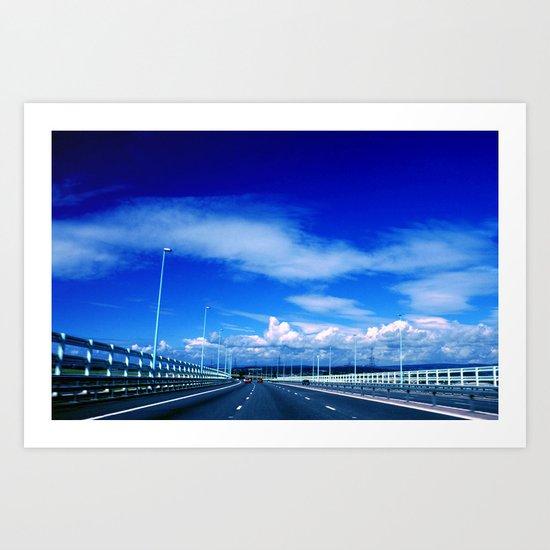 Severn Bridge Art Print