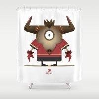 taurus Shower Curtains featuring TAURUS by Angelo Cerantola