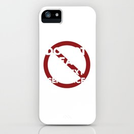 Funny Rebel - Sarcastic - Do Not Read iPhone Case