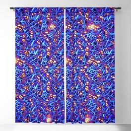 Blue Sub-atomic Lattice Blackout Curtain