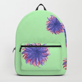 Green Purple Swirl Backpack