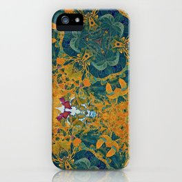 Orange and Green Flora iPhone Case