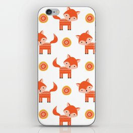 Orange Fox iPhone Skin