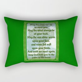 Green Irish Blessing Rectangular Pillow
