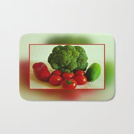 Fresh Vegetables Bath Mat