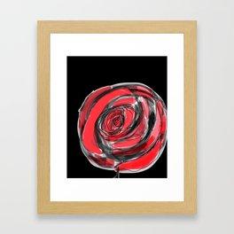 red rose for love Framed Art Print