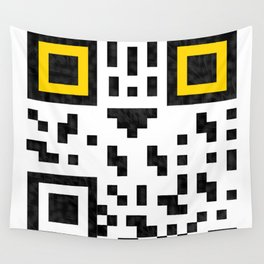 Owl QR code  Wall Tapestry