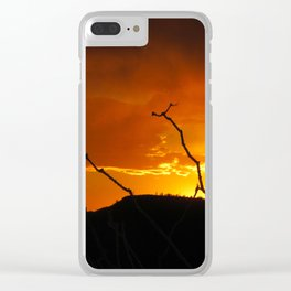 Desert Sky on Fire Clear iPhone Case