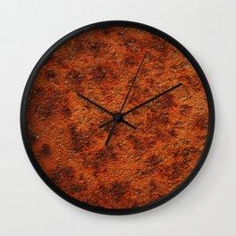 iron rust texture Wall Clock