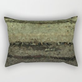 Wood and stone layers abstract pattern Rectangular Pillow