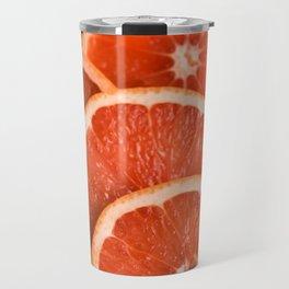 Grapefruit on Pink Travel Mug