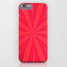 Red Orange Petal Mandala iPhone Case