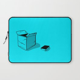 A Black Book and a Blue Box Laptop Sleeve